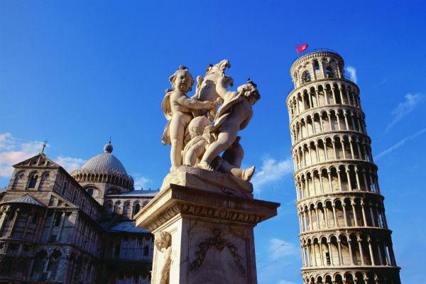 The Leaning Tower of Pisa is one of the world's most iconic sights.