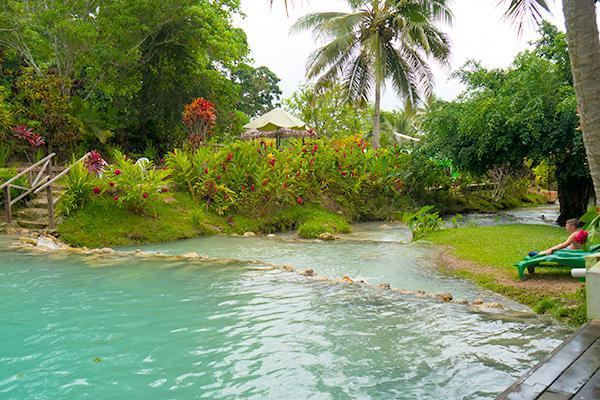 The beautiful grounds leading up to the Mele Cascades in Port Vila, Vanuatu