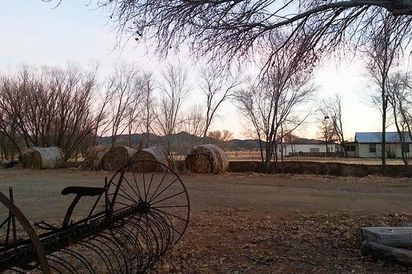 A serenely beautiful ranch at dusk in Prescott, Arizona