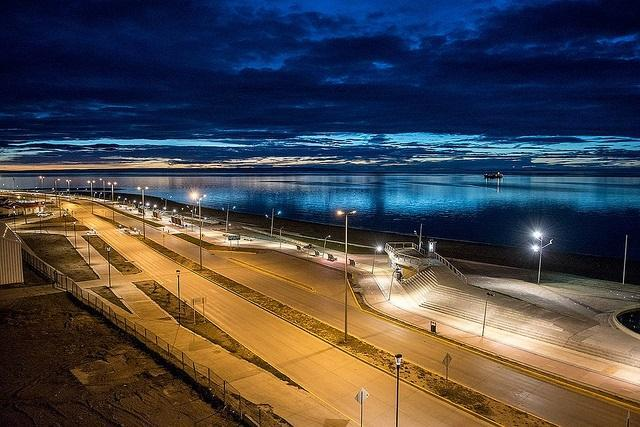 Punta Arenas at dawn