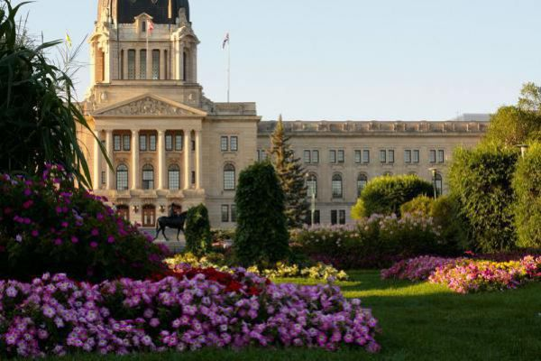 The legislature building in Regina.
