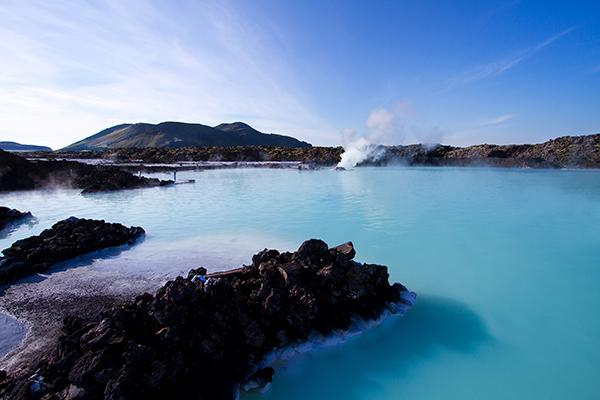 The famous Blue Lagoon Spa, near Reykjavík, Iceland