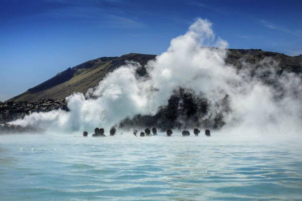 The Blue Lagoon near Reykjavik is a popular destination