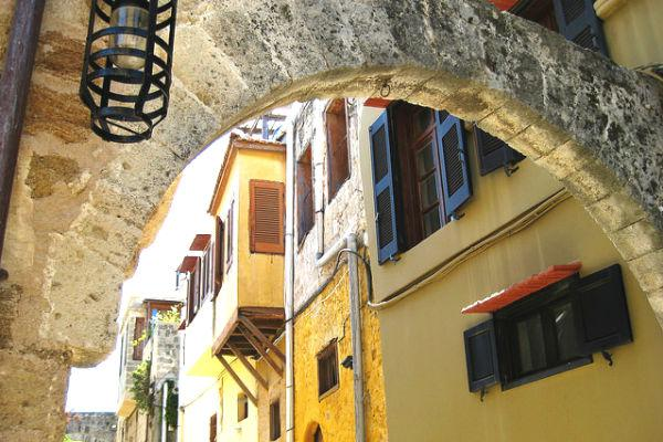 Make sure to get out of your Rhodes car rental and walk the old streets of the city.