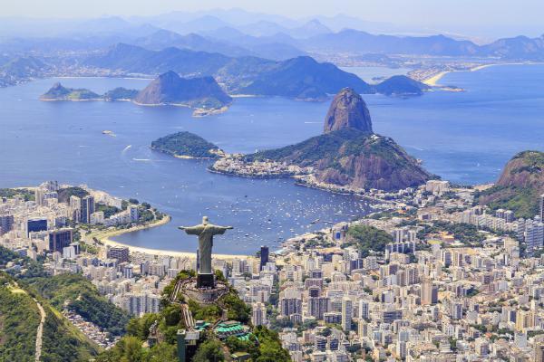 Rio de Janeiro sprawls beneath the Christ the Redeemer statue