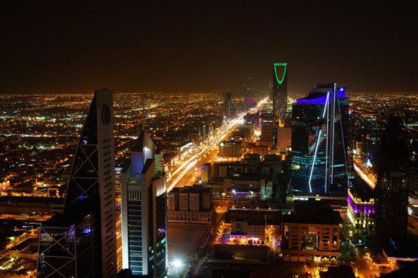 The city of Riyadh by night.