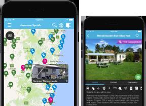 Motorhome Republic phone app display