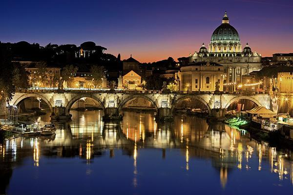 Vatican City looking gorgeous at dusk in Rome, Italy