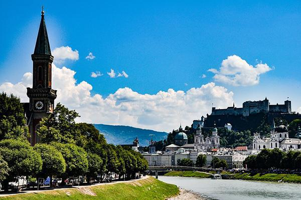 The unique and aesthetically pleasing cityscape of Salzburg, Austria