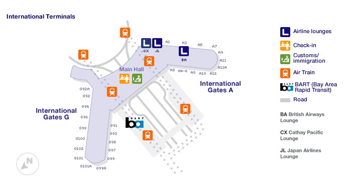 San Francisco International Terminal map