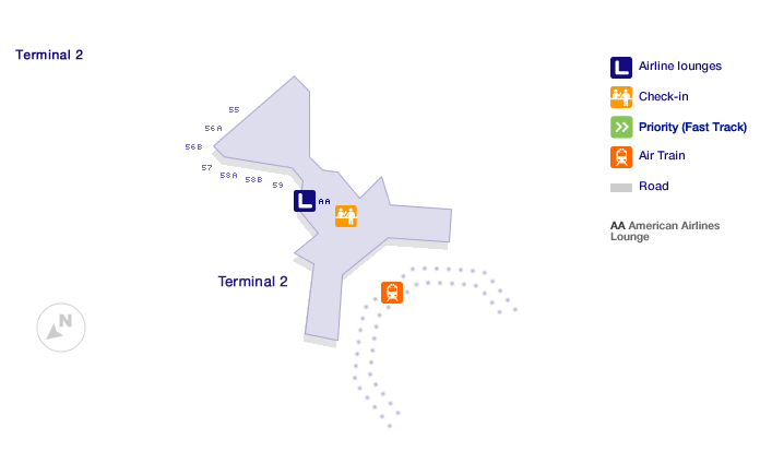 San Francisco Terminal 2 map