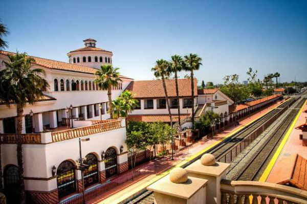 The Regional Transportation Center is a passenger rail station and transportation center in Santa Ana, California.