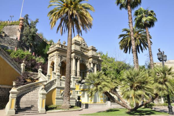 Colonial architecture in Santiago