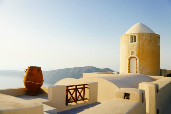 Santorini's buildings are nearly as beautiful as the natural features