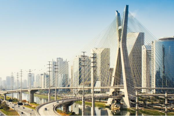 The modern architecture of Sao Paulo