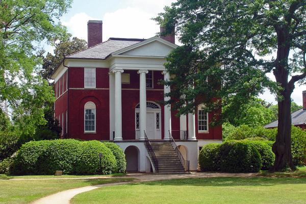 The historic Robert Mills house stands proudly in Columbia, South Carolina