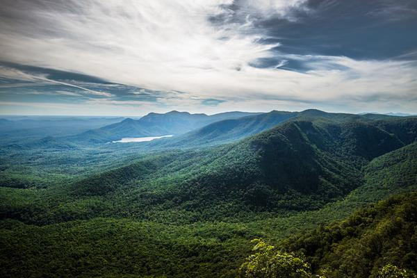 The mountains of Table Rock State Park stand tall outside of Greenville, South Carolina