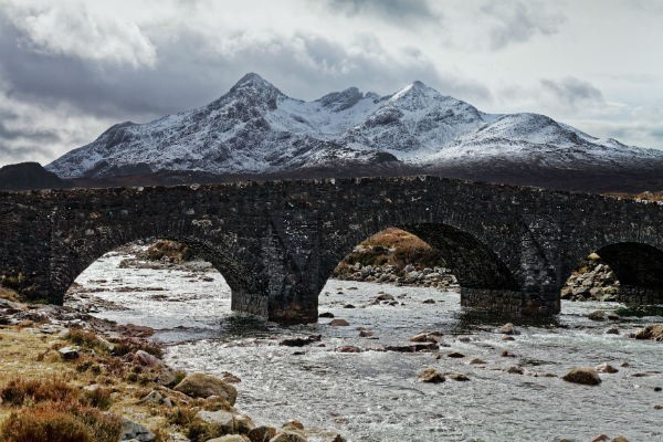 Scotland's rugged good looks are only improved by a dusting of winter snow