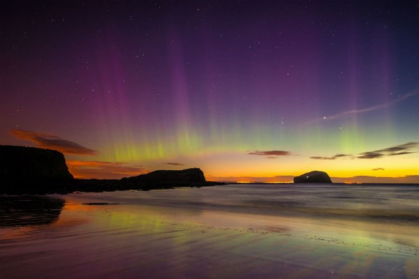 Winter in Scotland gives you the chance to see the glorious Northern Lights