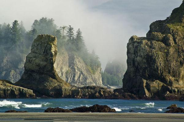 Second Beach shows off the best of the Pacific Northwest's coastline.