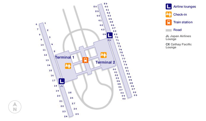 Shanghai Pudong Airport Terminal Map