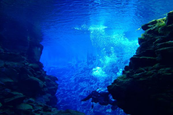 The clearest waters in the world and a gap between two continental tectonic plates: Silfra in Iceland has both.