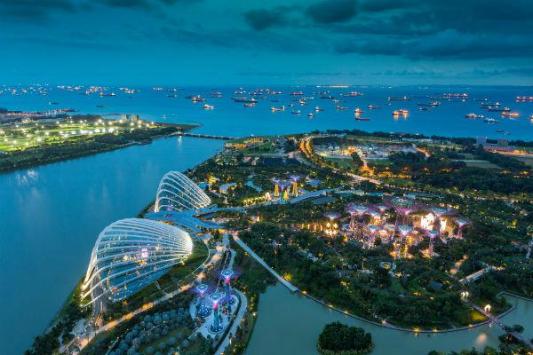 Singapore's concrete jungle is interspersed with green