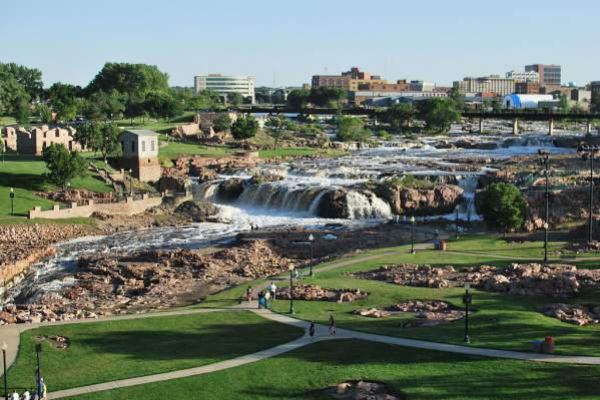 The Falls in Sioux Fall.