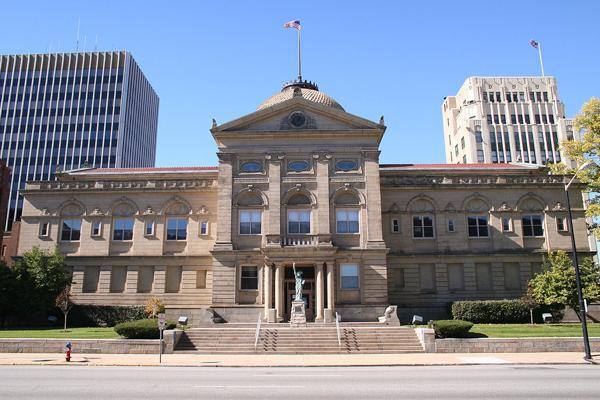 Saint Joseph County courthouse is a bedrock of the South Bend, Indiana city centre