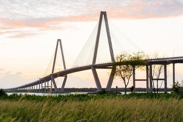 The Arthur Ravenel Jr. Bridge stands proudly in Charleston, South Carolina