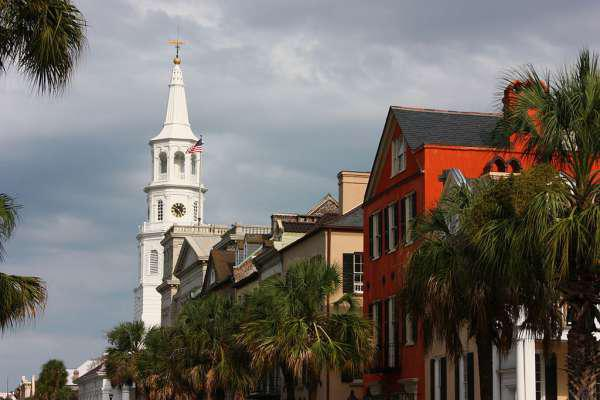 The popular Broad Street in Charleston