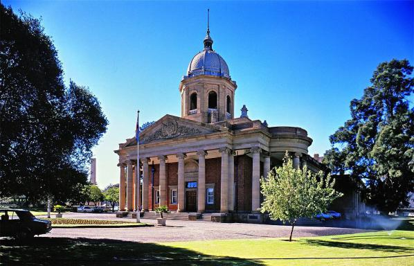 The historical landmark Fourth Raadsaal in Bloemfontein