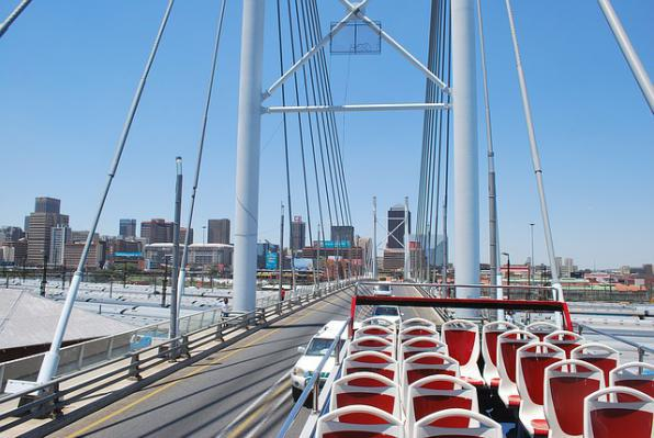 The Nelson Mandela Bridge in Johannesburg.