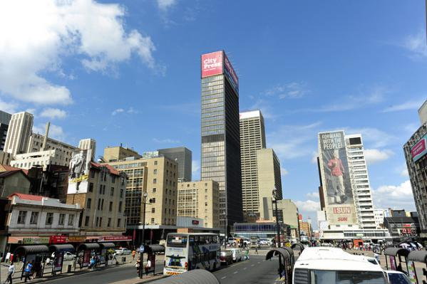 The Central Business District, commonly called Johannesburg CBD.