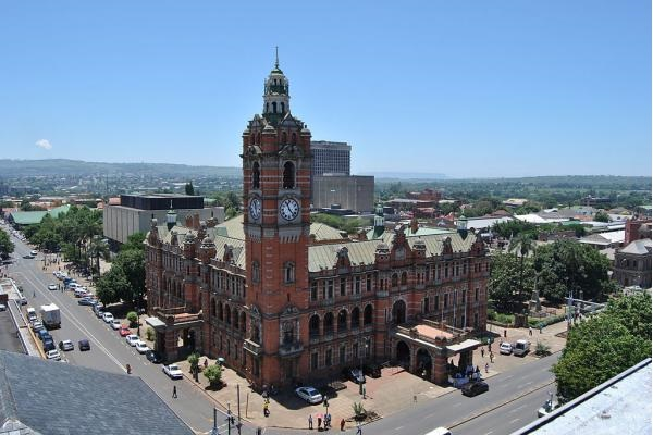 Pietermaritzburg's City Hall, which claims to be the largest brick building in the southern hemisphere, lies in the middle of the Pietermaritzburg city centre.