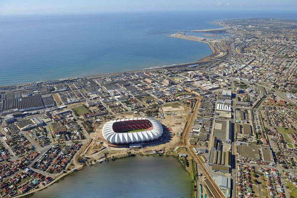 The Nelson Mandela Bay Stadium in Port Elizabeth, South Africa