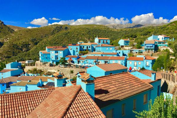 Juzcar was originally painted blue to promote a Smurfs movie, but the town has since embraced its colour change and decided to stick with it.