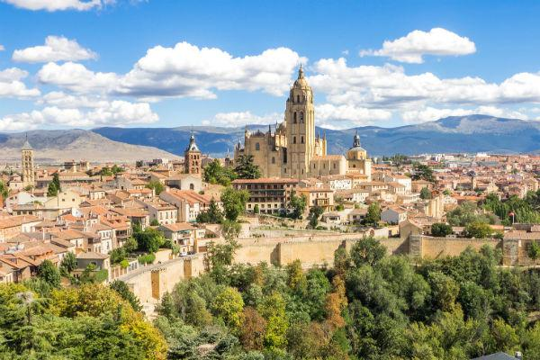 Segovia is a beautiful ancient city that's only a short drive from Madrid, Spain.