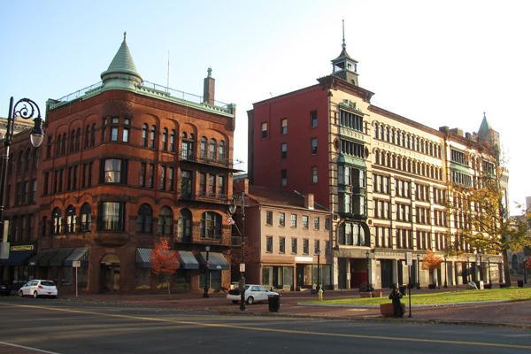 The historic Court Square Building stands proudly in Springfield, Massachusetts