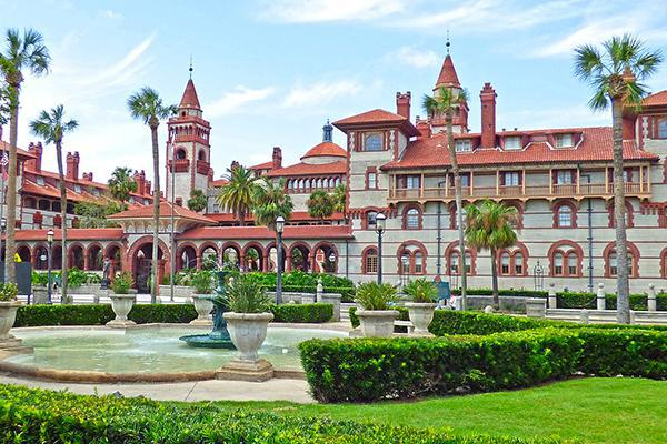 Beautiful Flagler College in St Augustine, Florida