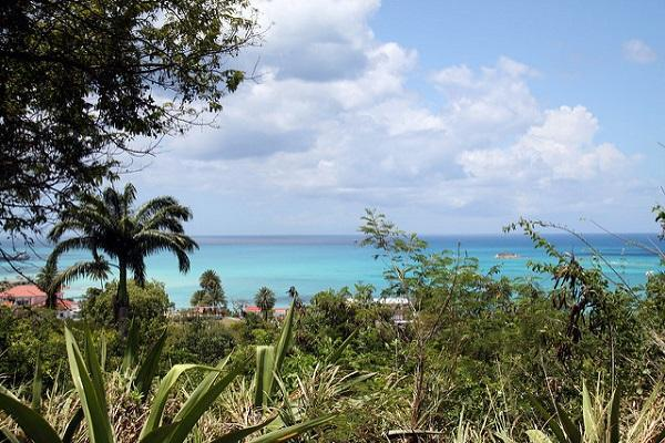 Looking over the Caribbean from St John's