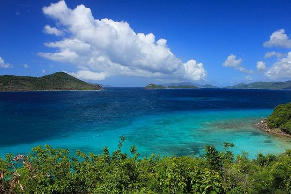 Blues and greens of gorgeous St Thomas