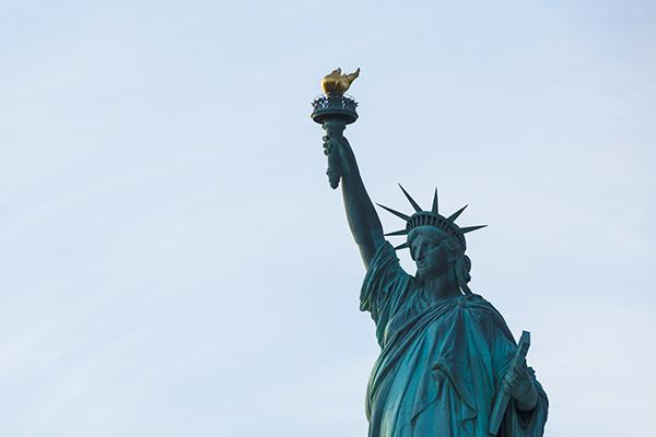 The iconic Statue of Liberty in New York City, New York, United States