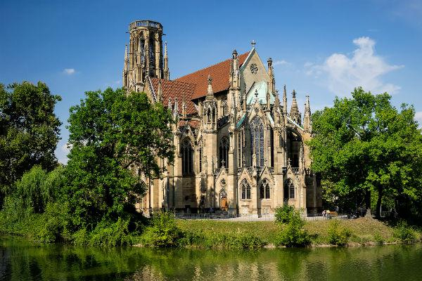 St. John's church was almost destroyed in the second world war, but this Stuttgart icon has been lovingly restored.