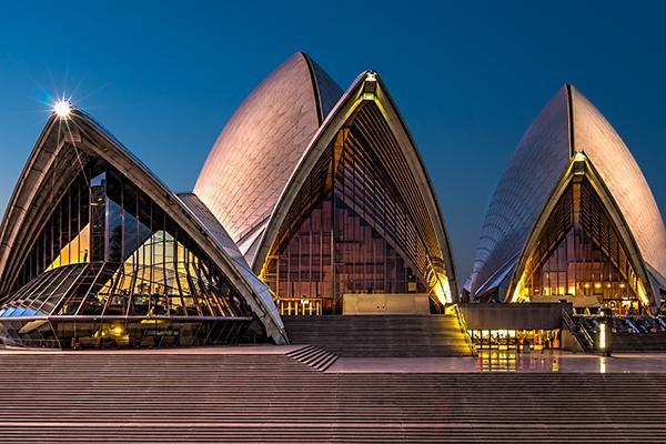 The iconic Opera House in Sydney, Australia