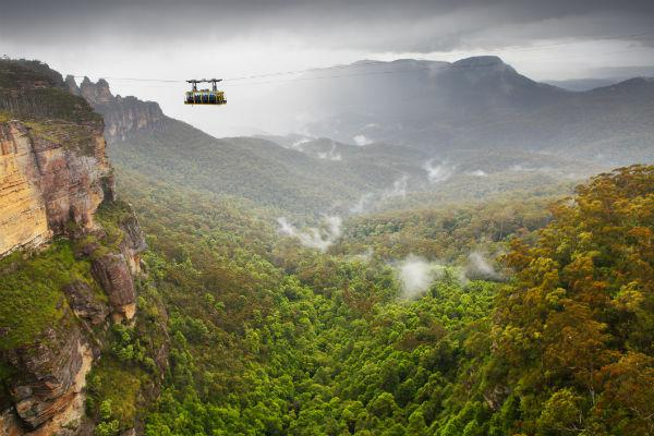The stunning Blue Mountains offer a glimpse at what Australia looked like many millions of years ago.