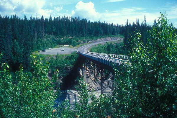 Nass River Bridge: Over Nass River on Cassiar Highway which runs from Terrace to Watson Lake