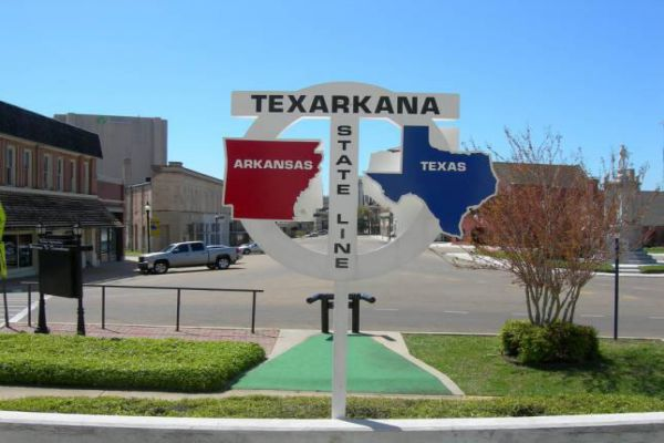 Texarkana in Texas is a twin city with neighboring Texarkana, Arkansas.