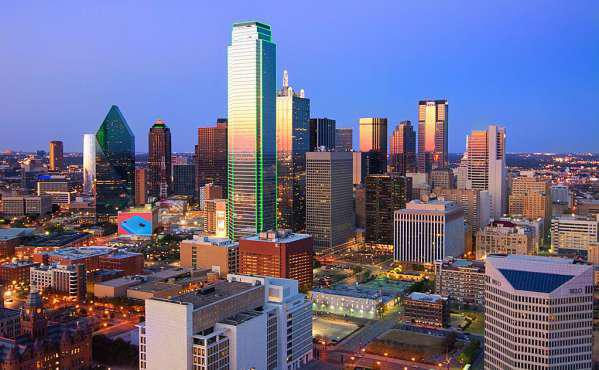 The magnificent skyline of Downtown Dallas
