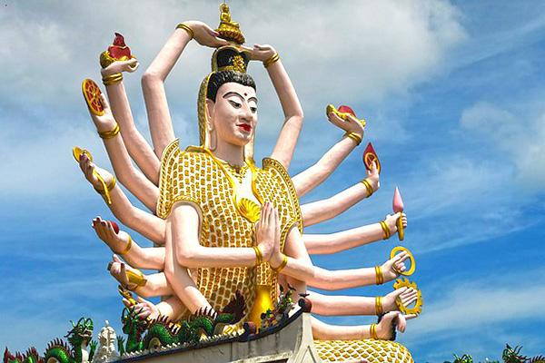 Wat Plai Laem, a Buddhist temple on the island of Koh Samui, Thailand